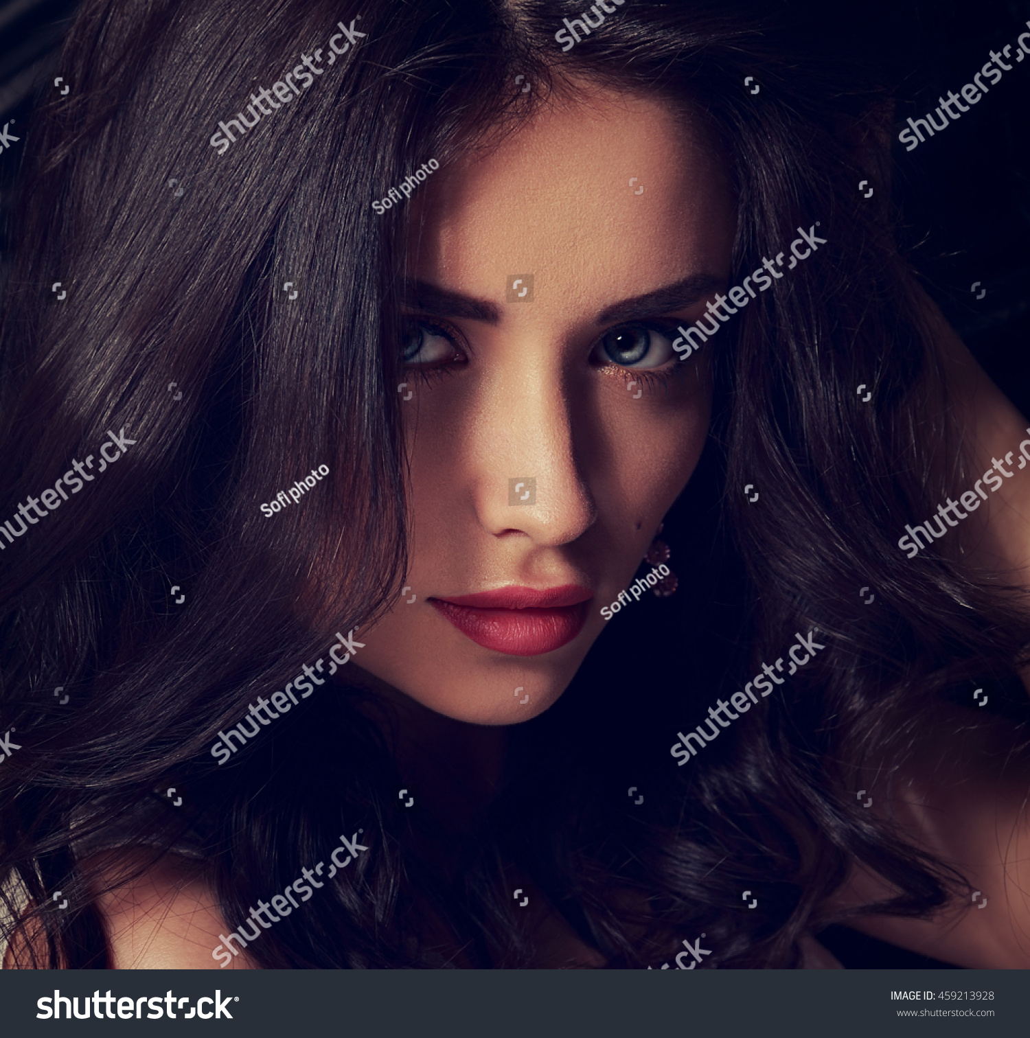 Seductive Makeup Brunette Woman Long Hair Stock Photo Edit Now