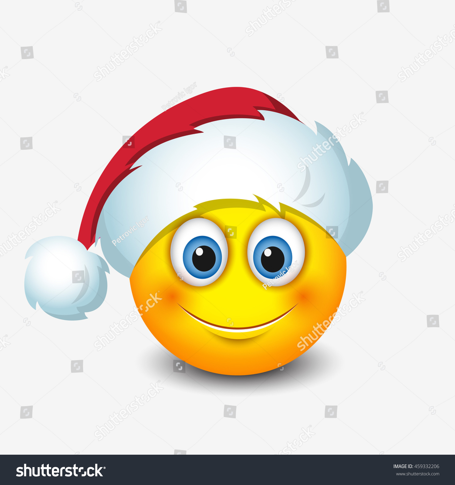 cute santa claus emoticon smiley emoji vector. Black Bedroom Furniture Sets. Home Design Ideas