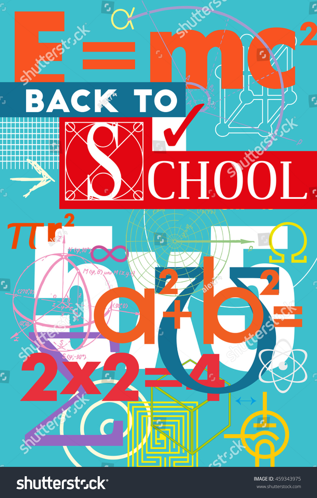 Free School Notebook Cover Vector ~ Back school poster cover textbook notebook stock vector