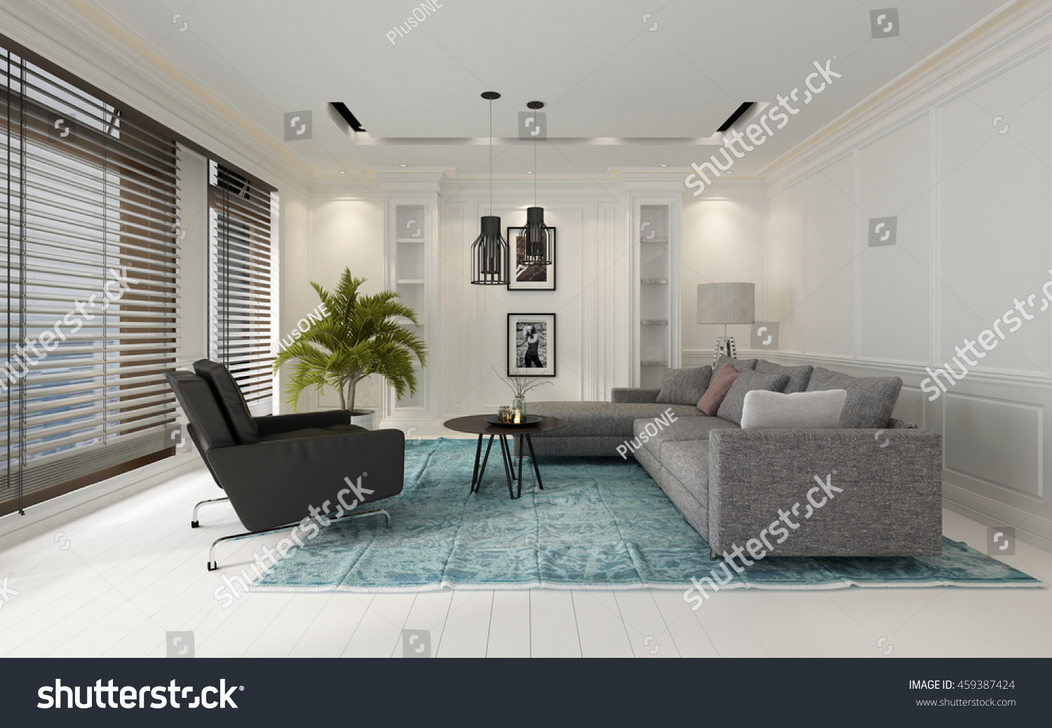 Comfortable modern white living room interior stock illustration 459387424 shutterstock - Comfy interiors ...