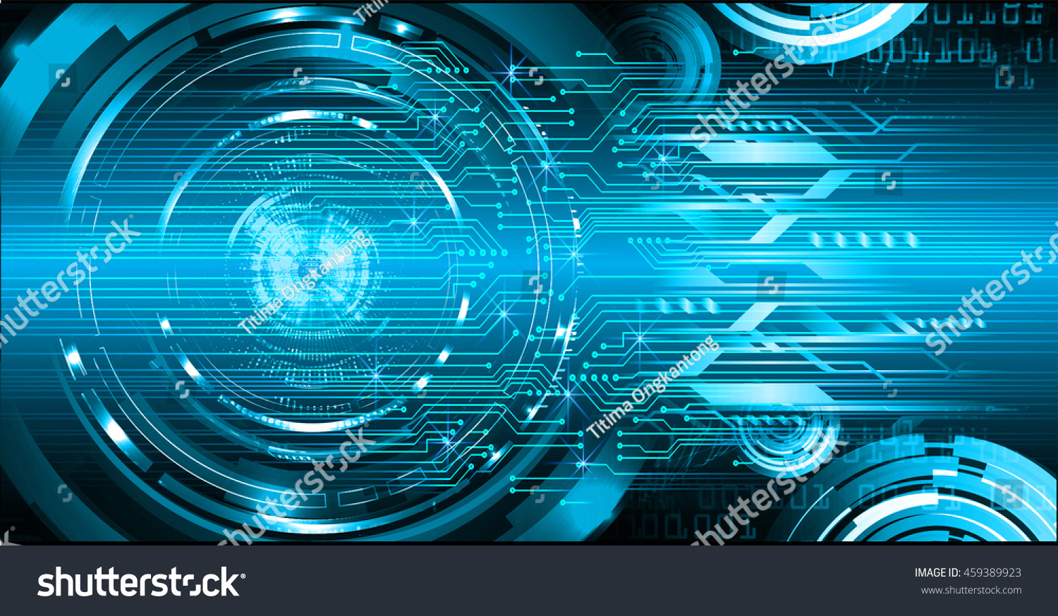 Binary Circuit Board Future Technology Blue Eye Cyber Security Code On Concept Background Abstract Hi Speed Digital Internetmotion Move Blur Pixel Vector Ez