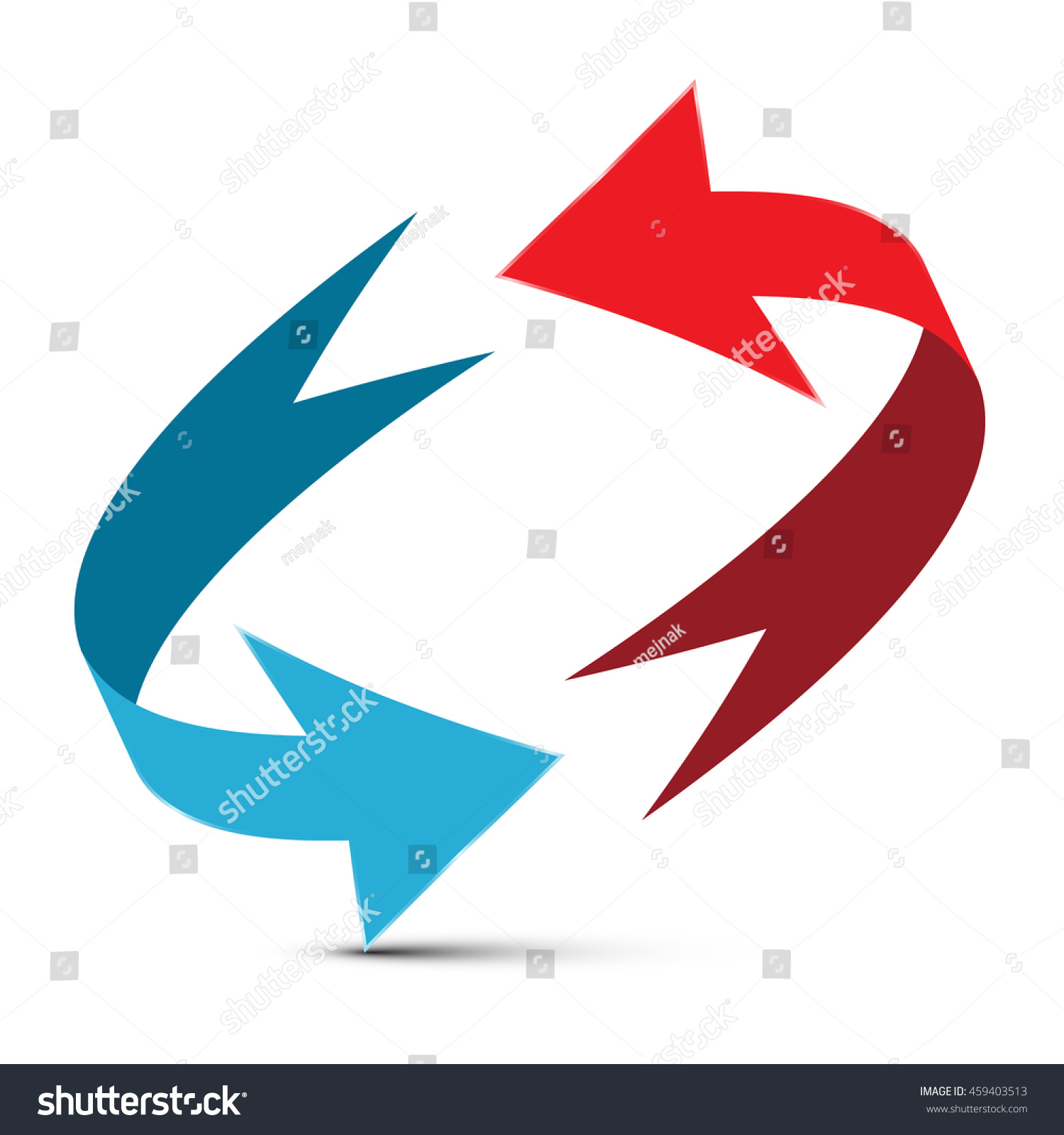 Arrows Illustration Red Blue Double Arrow Stock Vector Royalty Free