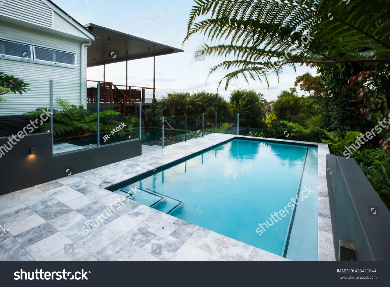 Blue Water Swimming Pool Floor Tiles Stock Photo Edit Now