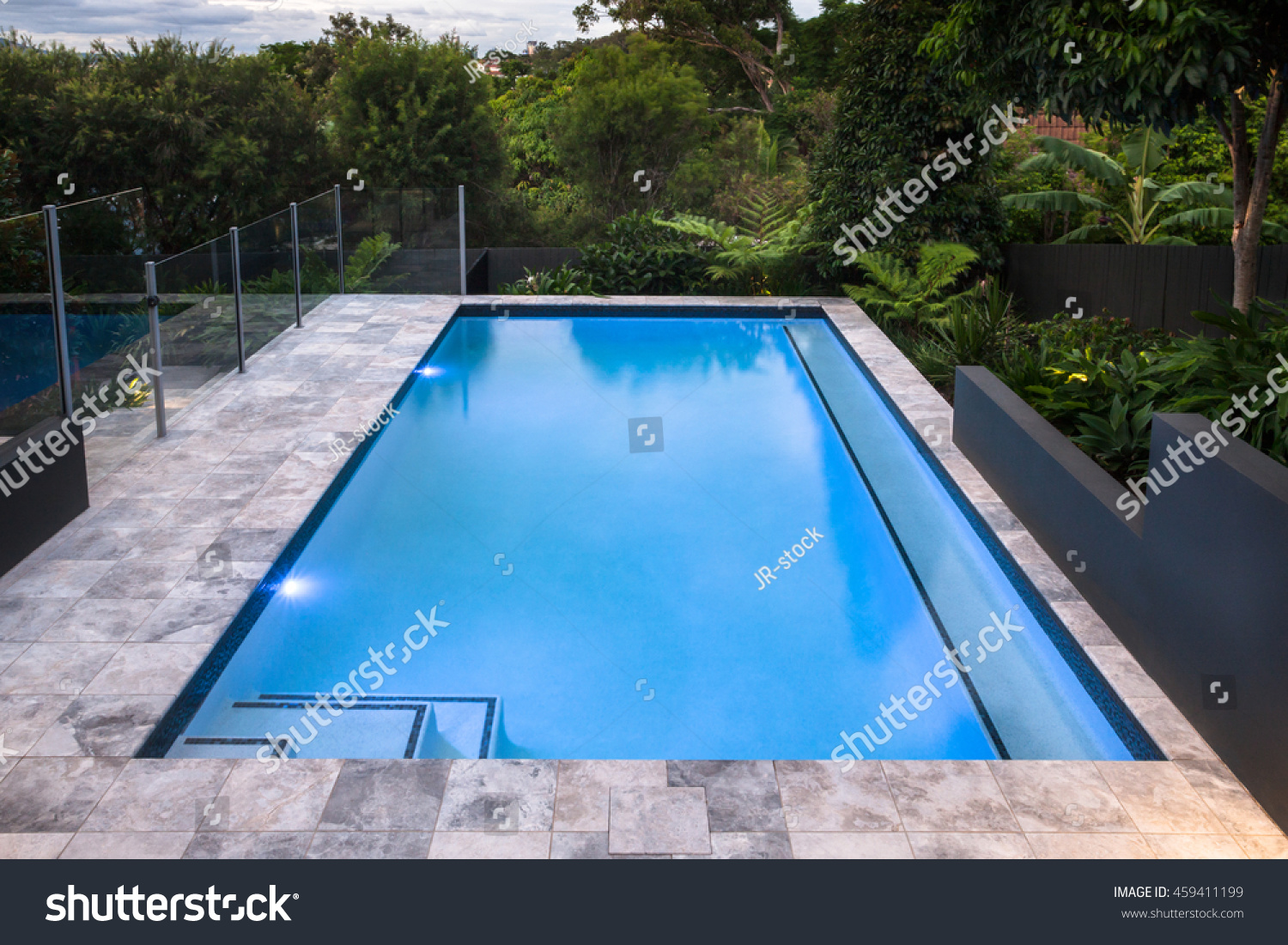 Luxury swimming pool closeup blue water stock photo - How to make swimming pool water blue ...