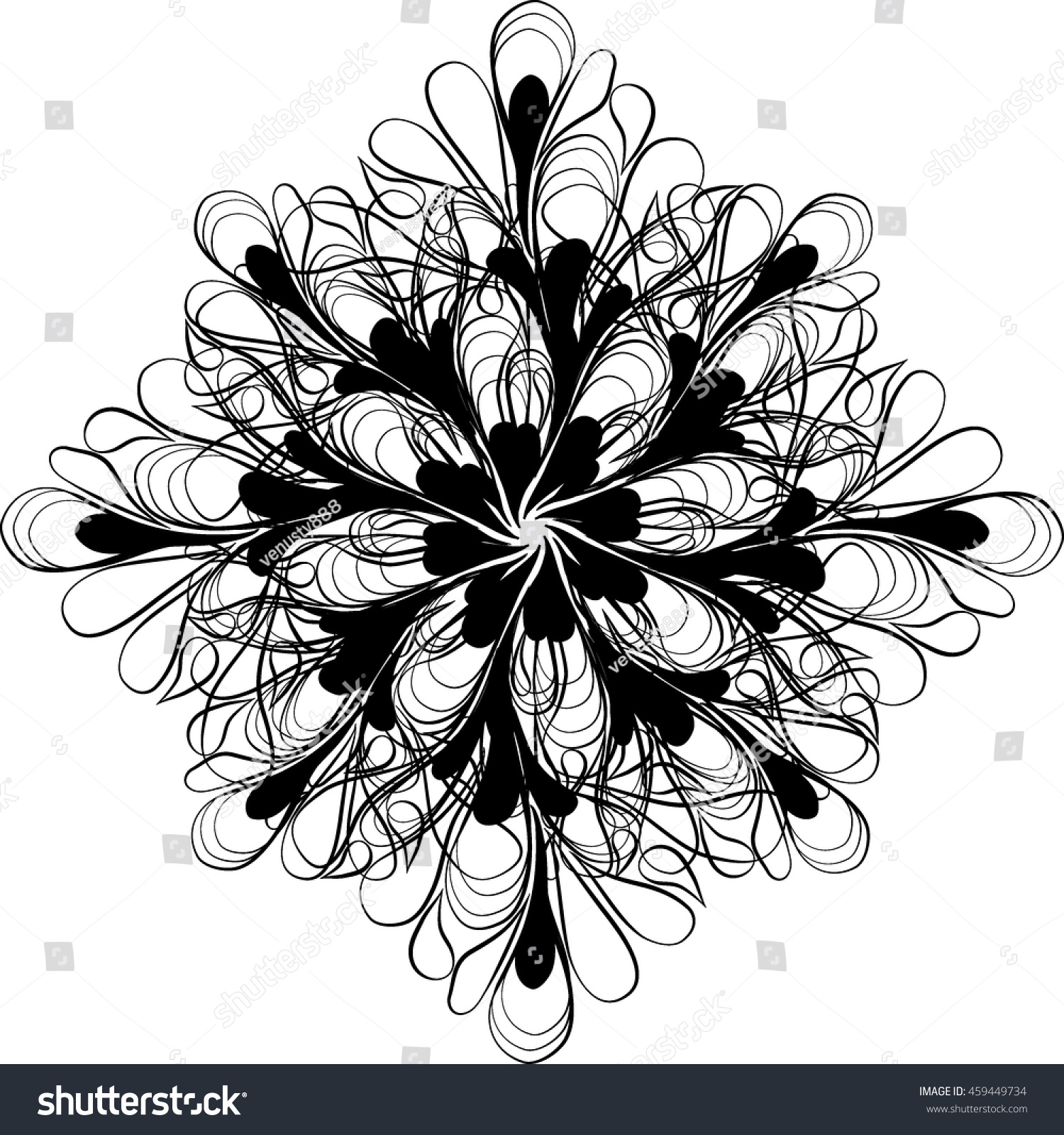 Royalty free vector black and white flowers vector 459449734 vector black and white flowers vector coloring book page for adult doodle floral pattern mightylinksfo
