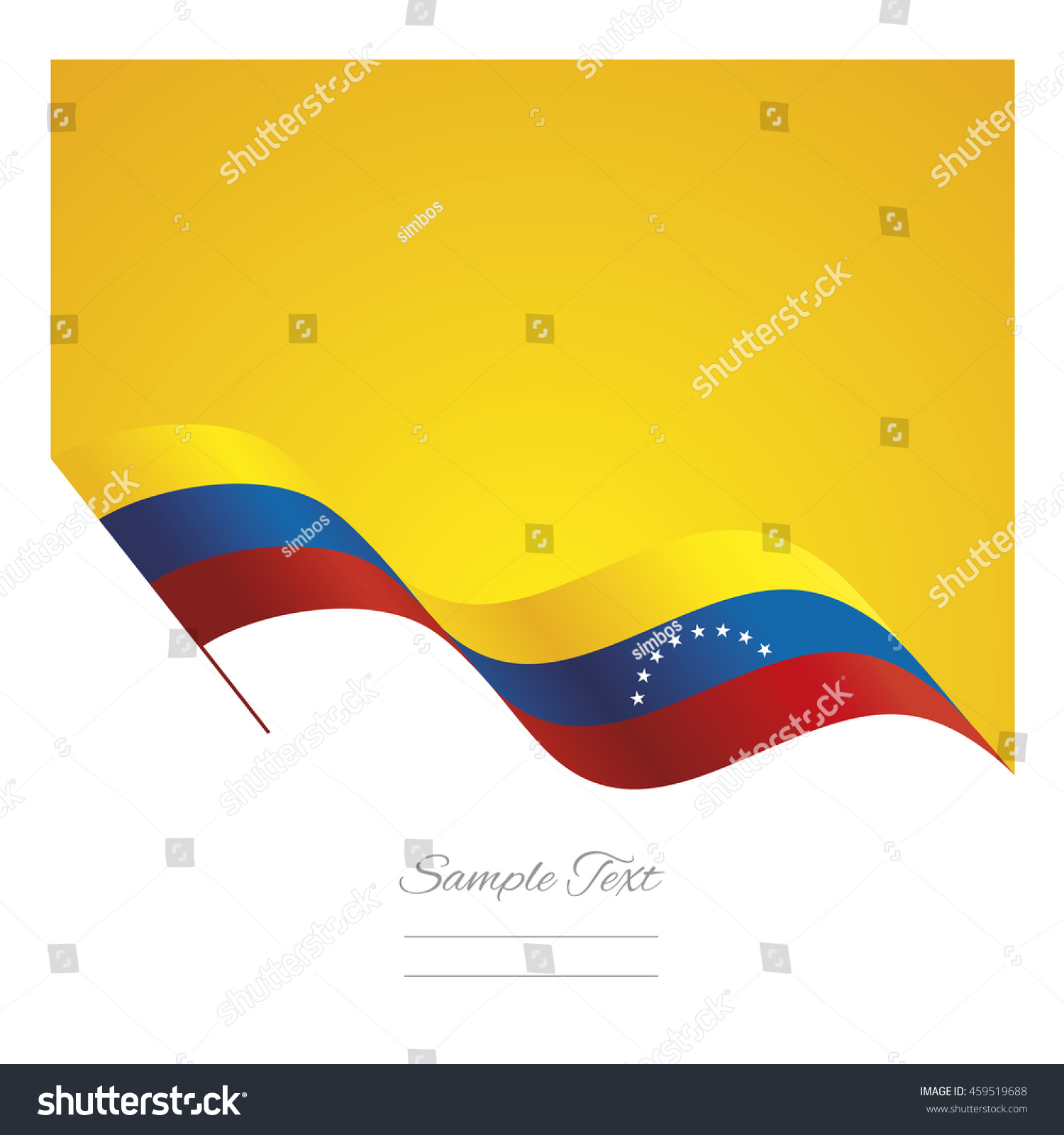 Venezuela abstract wave flag ribbon vector stock vector 459519688 venezuela abstract wave flag ribbon vector background pronofoot35fo Gallery
