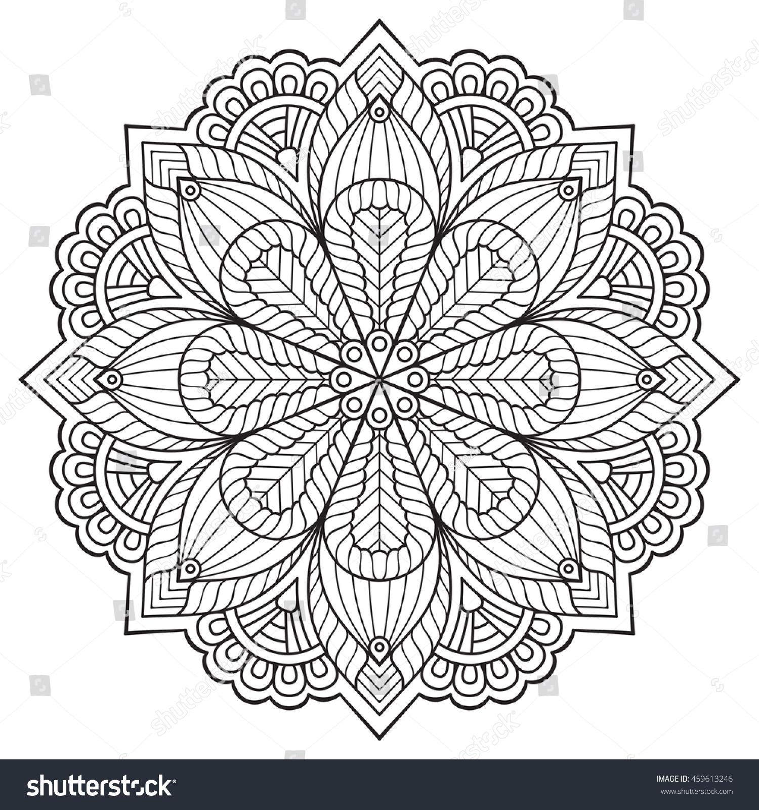 Flower Mandala Vintage Decorative Elements Oriental Stock Vector 459613246