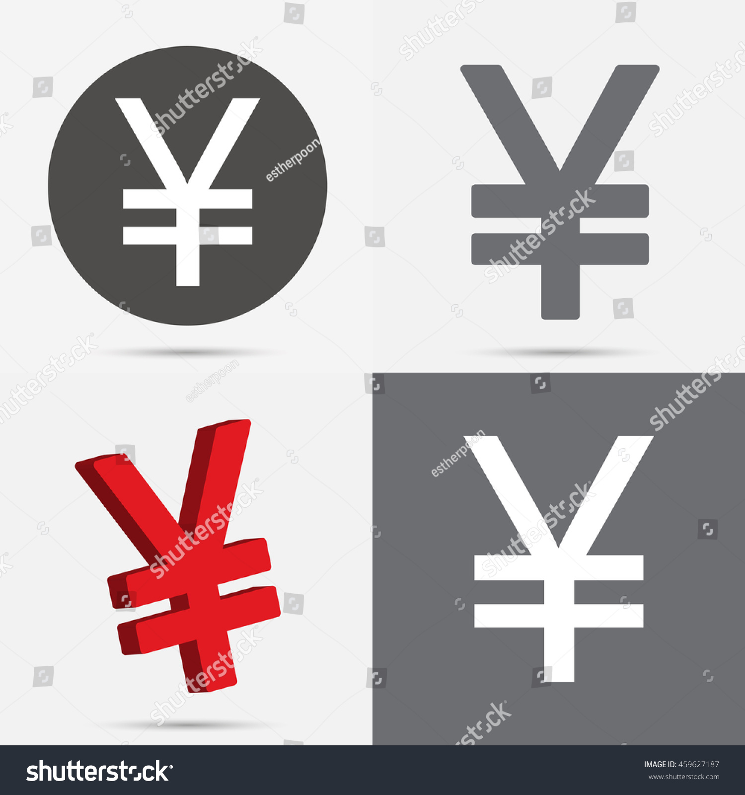 Set japanese yen chinese yuan currency stock vector 459627187 set of japanese yen and chinese yuan currency symbol biocorpaavc Image collections