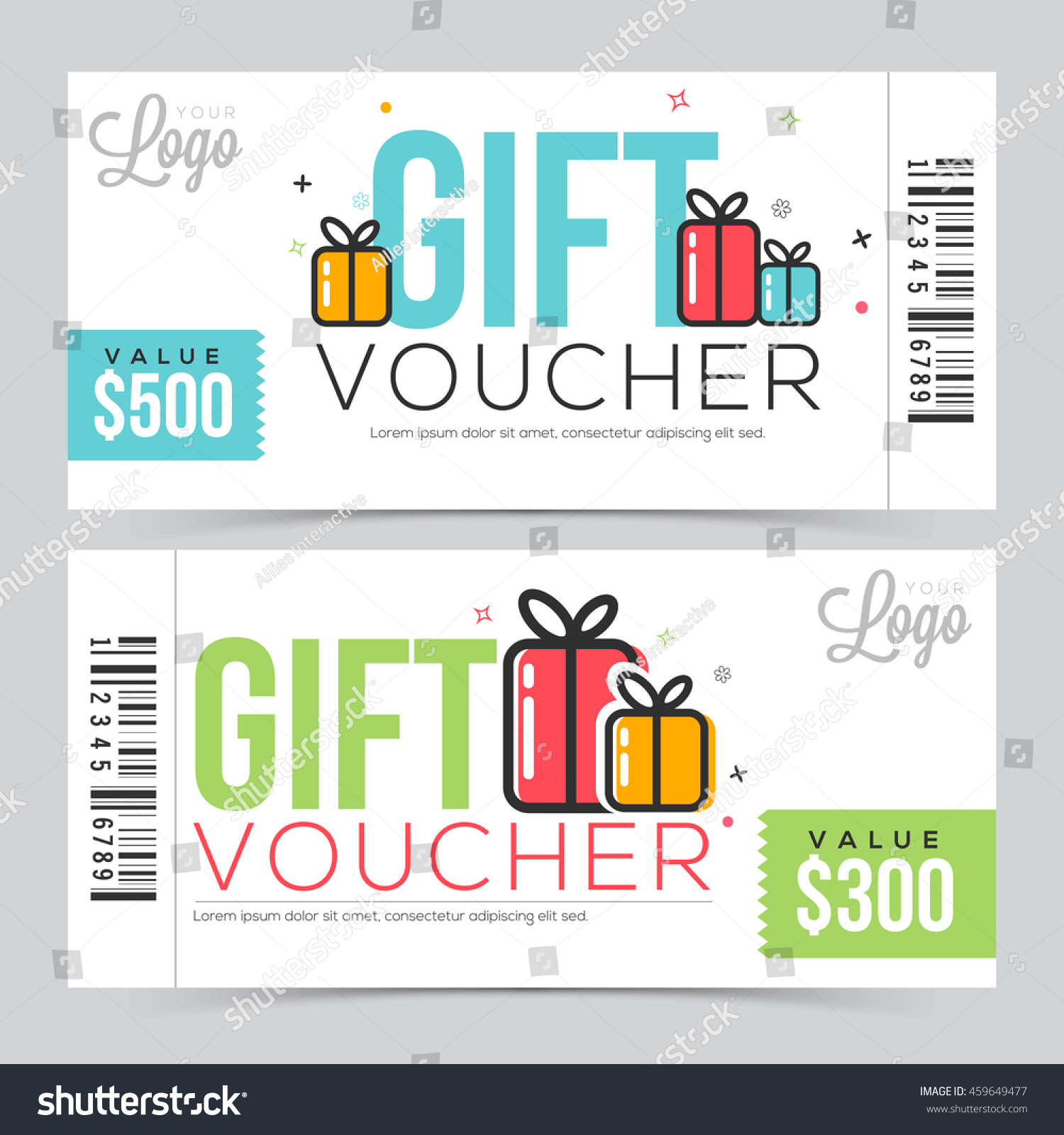 Creative modern gift voucher coupon certificate creative modern gift voucher coupon or certificate design with free space vector illustration negle Images