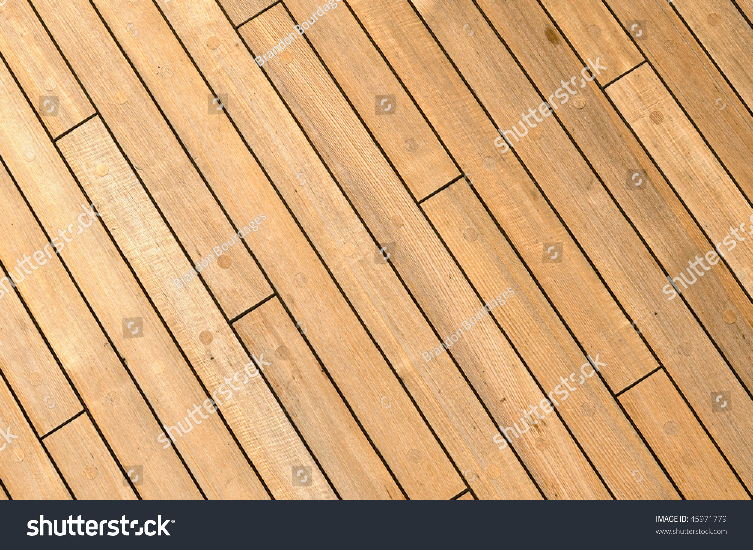 Diagonal wooden ship deck background free stock photo