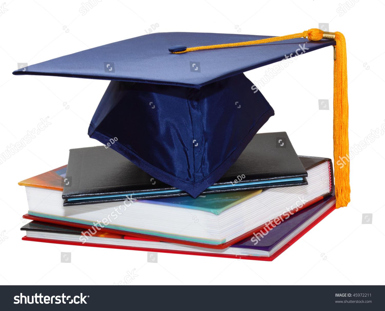 Graduation Cap Over Black Leather Diploma Stock Photo Edit Now 45972211