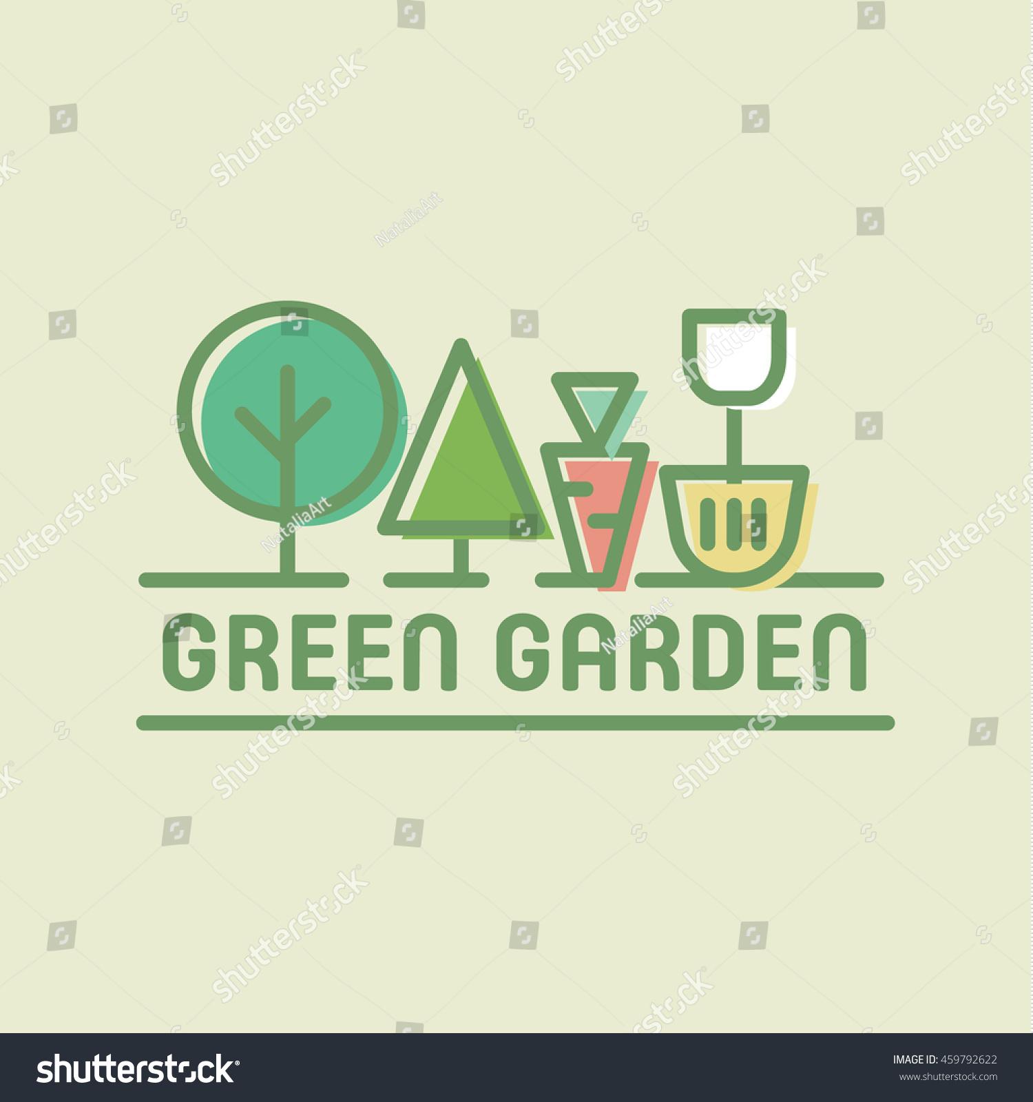 modern design logo stylized garden shovel stock vector