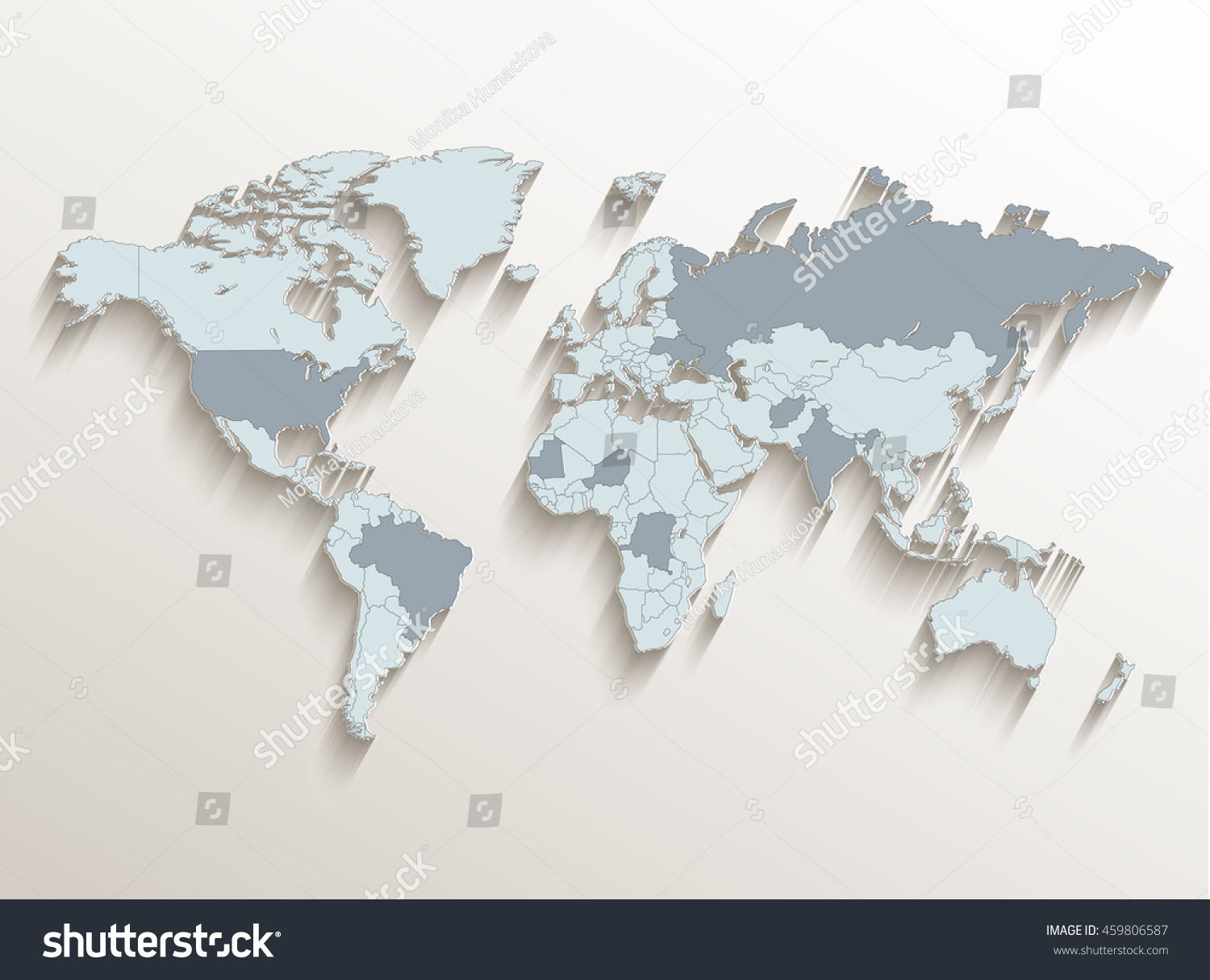 World political map white blue 3d stock vector 459806587 world political map white blue 3d vector gumiabroncs Images