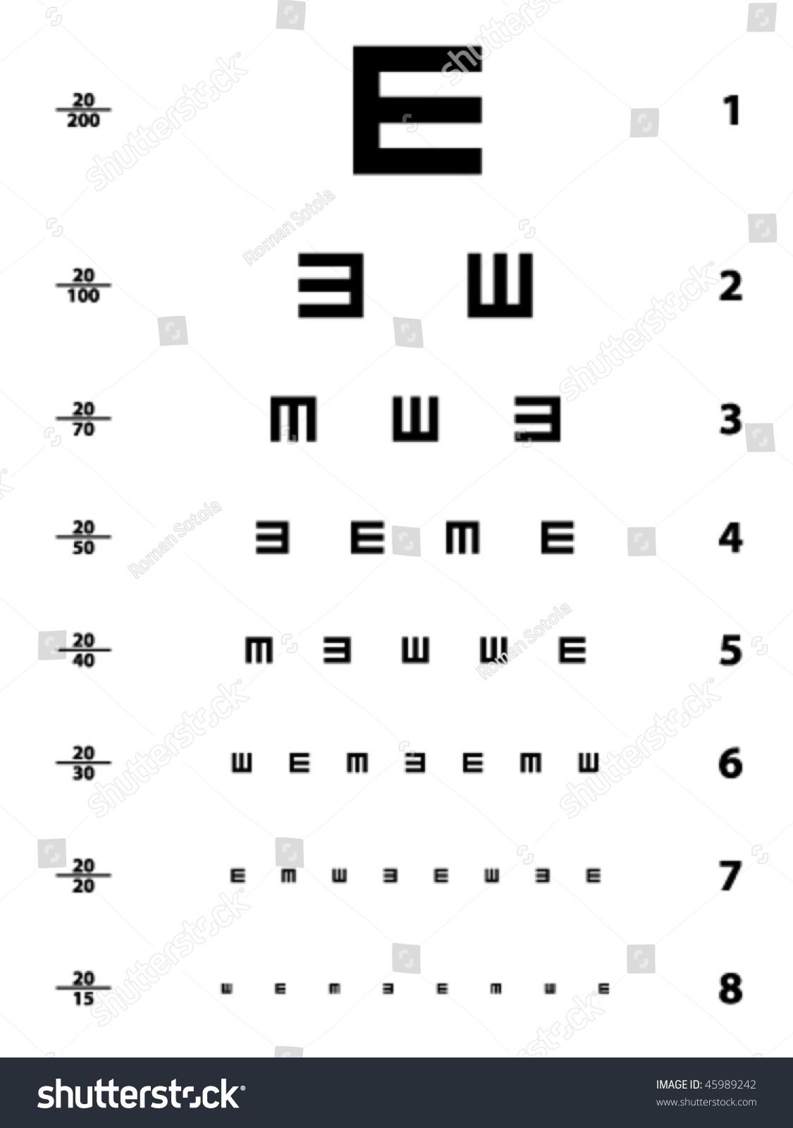 Vector snellen eye test chart stock vector 45989242 shutterstock vector snellen eye test chart nvjuhfo Gallery