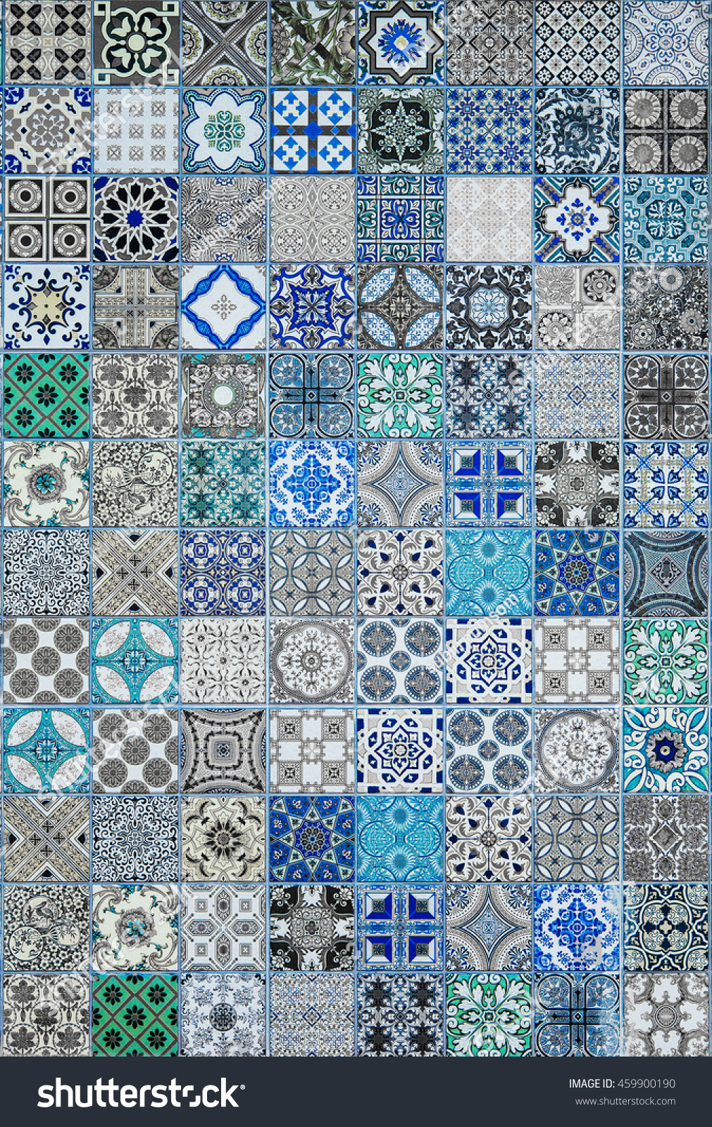 Ceramic Tiles Patterns Portugal Stock Photo (Royalty Free) 459900190 ...