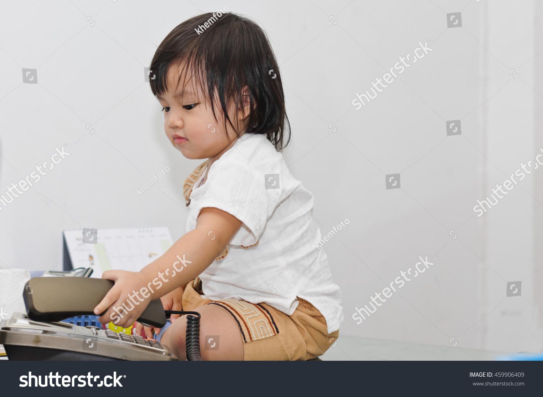 Asian Girl Baby Seating On Work Stock Photo 459906409 - Shutterstock