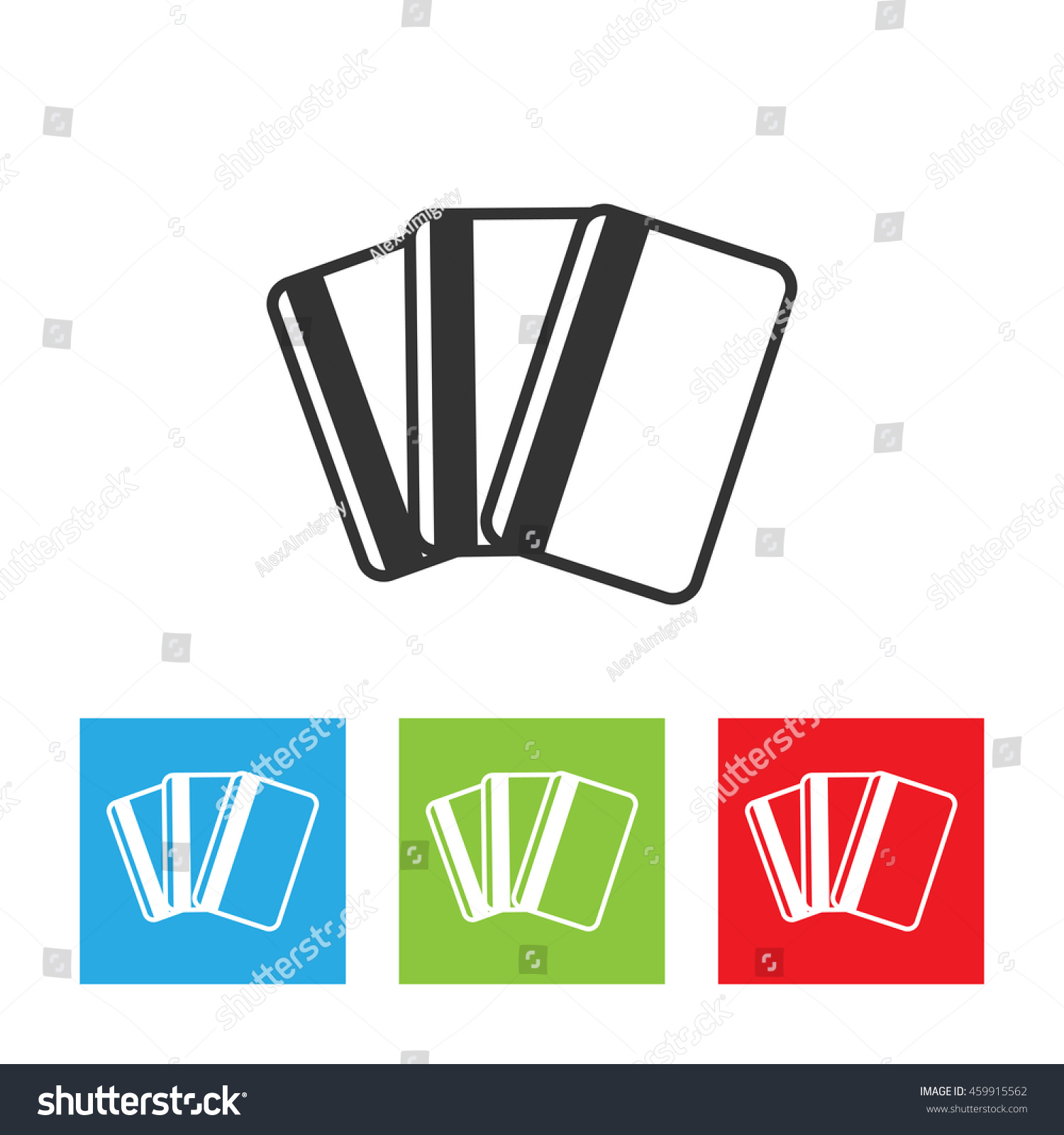 credit card icon credit card logo stock vector 459915562 rh shutterstock com black and white credit card logos vector black and white credit card logos vector