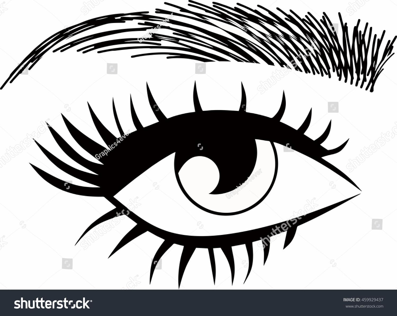 Threading Salon Logo Eyebrows Eyelash Extensions Stock Vector