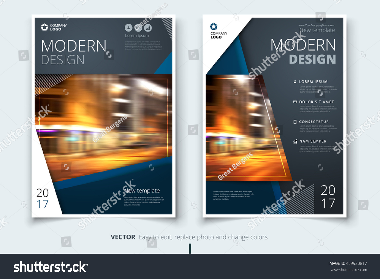 Dark Blue Modern Brochure Design Corporate Stock-Vektorgrafik ...