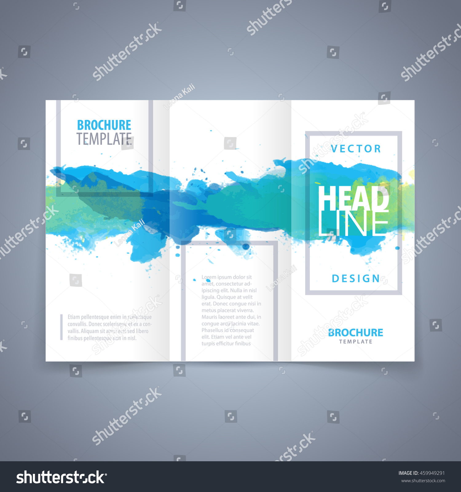Vector modern flyer poster trifold brochure stock vector for Modern brochure template