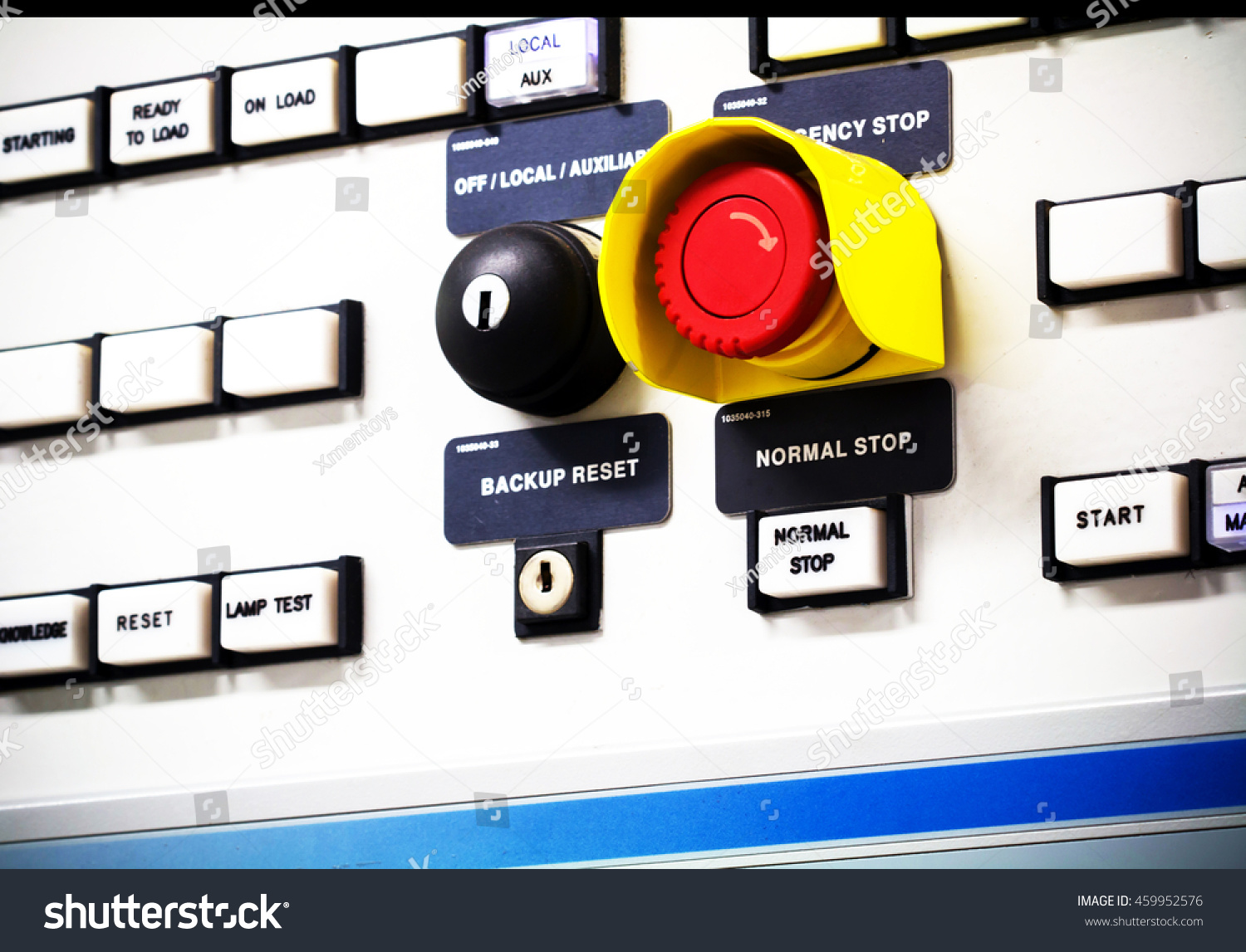 Group Selective Put Button Emergency Switch Stock Photo (Royalty ...