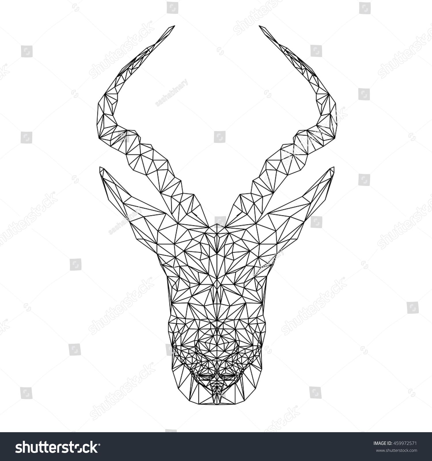 springbok african animal vector antelope illustration stock vector 459972571 shutterstock. Black Bedroom Furniture Sets. Home Design Ideas