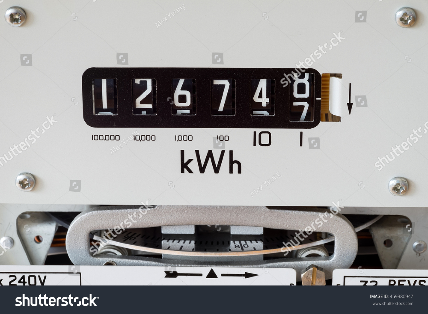 Electricity Meter Showing Kilowatt Hour Symbol Stock Photo (Safe to ...