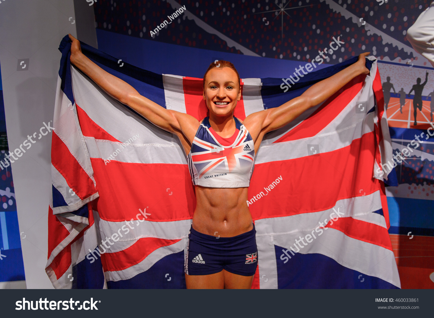 LONDON ENGLAND JULY 22 2016 Brisitsh athlet Jessica Ennis-Hill Madame Tussauds wax museum It is a major tourist attraction in London