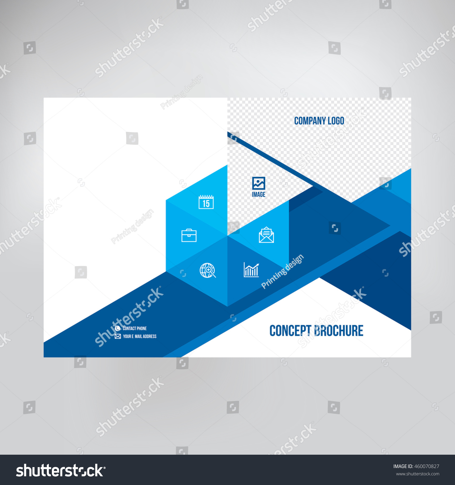 Cover Catalogue Brochure Booklet Leaflet Graphic Stock