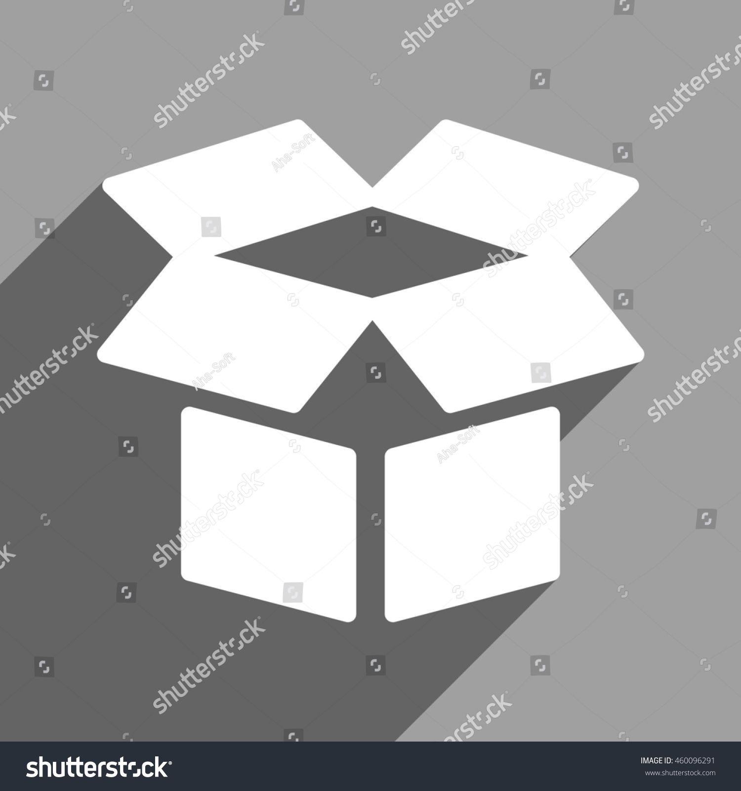 Open box long shadow glyph icon stock illustration 460096291 open box long shadow glyph icon style is a flat open box white iconic symbol biocorpaavc Choice Image