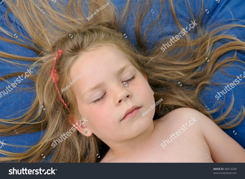 Daughter sunbathing