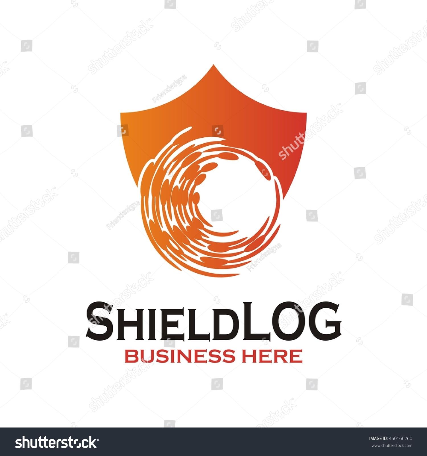 shield guard logo design vector security stock vector