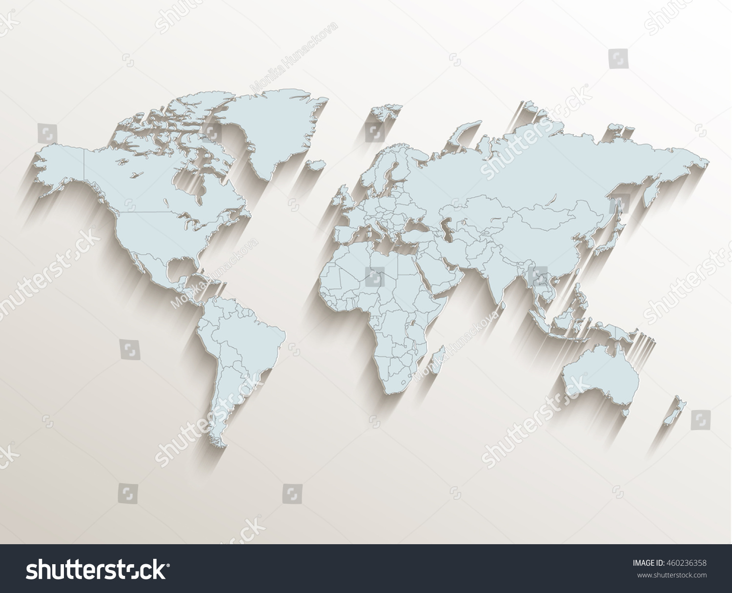 World political map white blue 3d stock illustration 460236358 world political map white blue 3d raster gumiabroncs Images