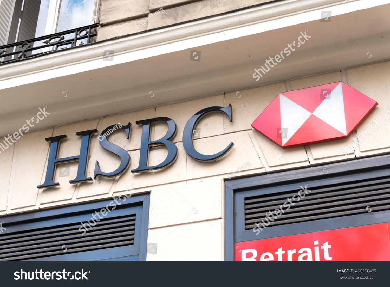 Paris France April 28 2016 HSBC Stock Photo (Edit Now