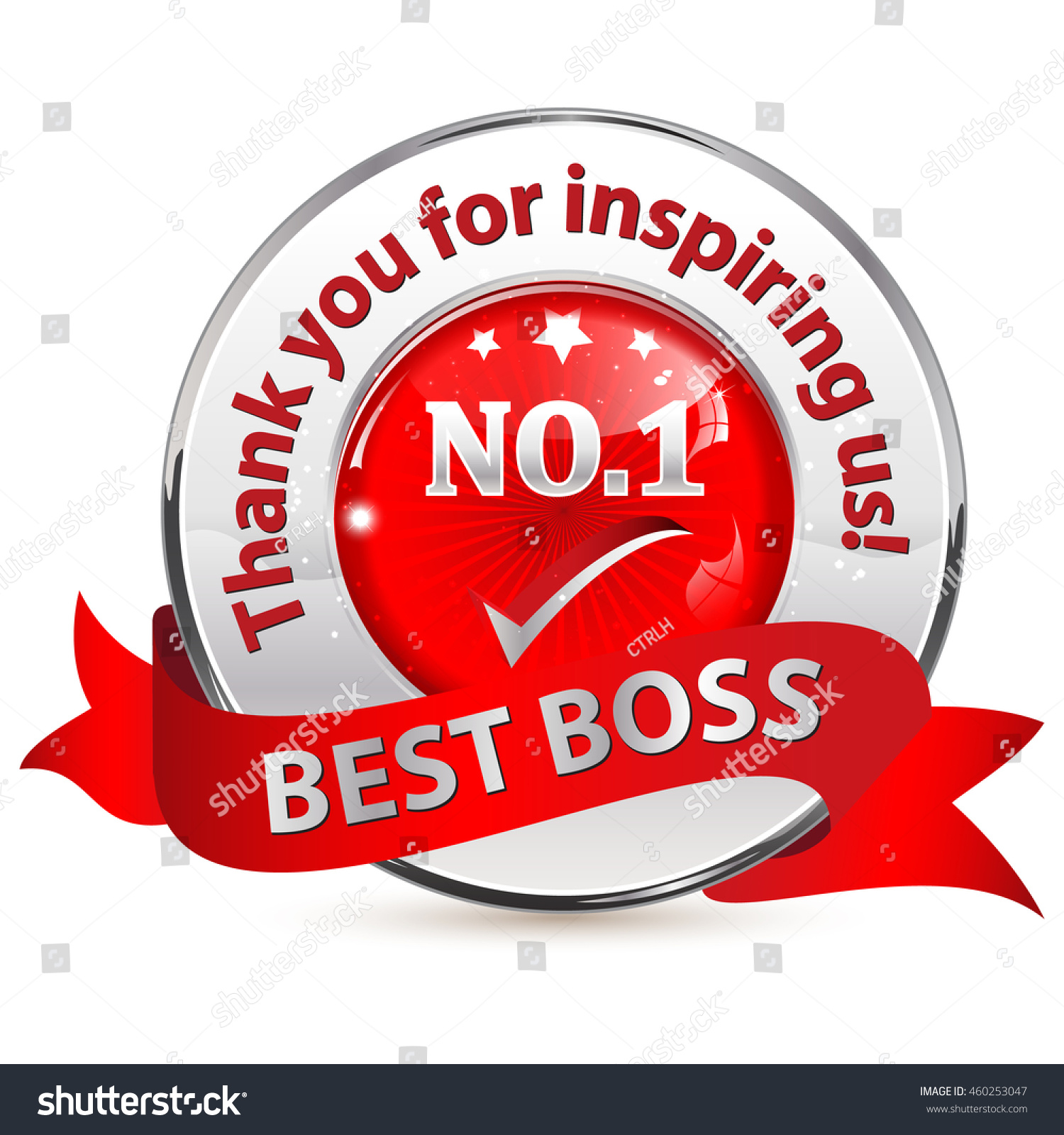 Number 1 Best Boss Thank You Stock Vector Royalty Free