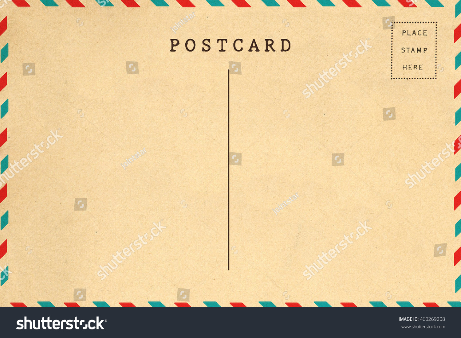 Back of airmail blank postcard template | EZ Canvas