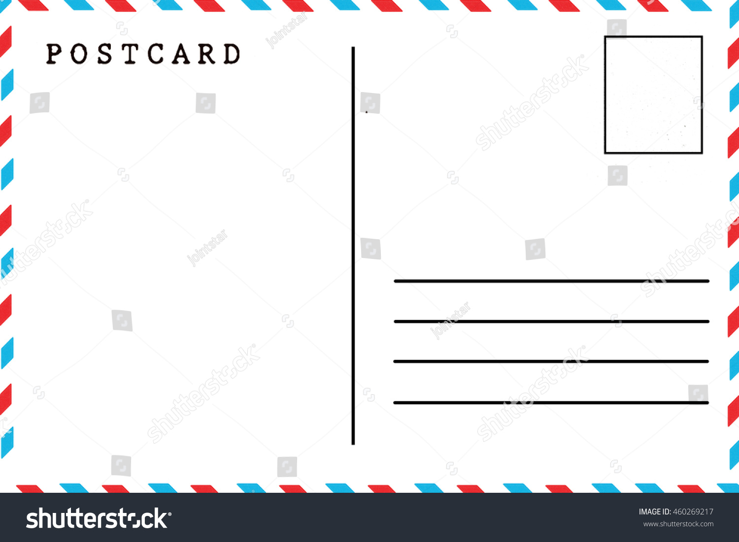 Back airmail blank postcard template stock photo edit now back of airmail blank postcard template maxwellsz