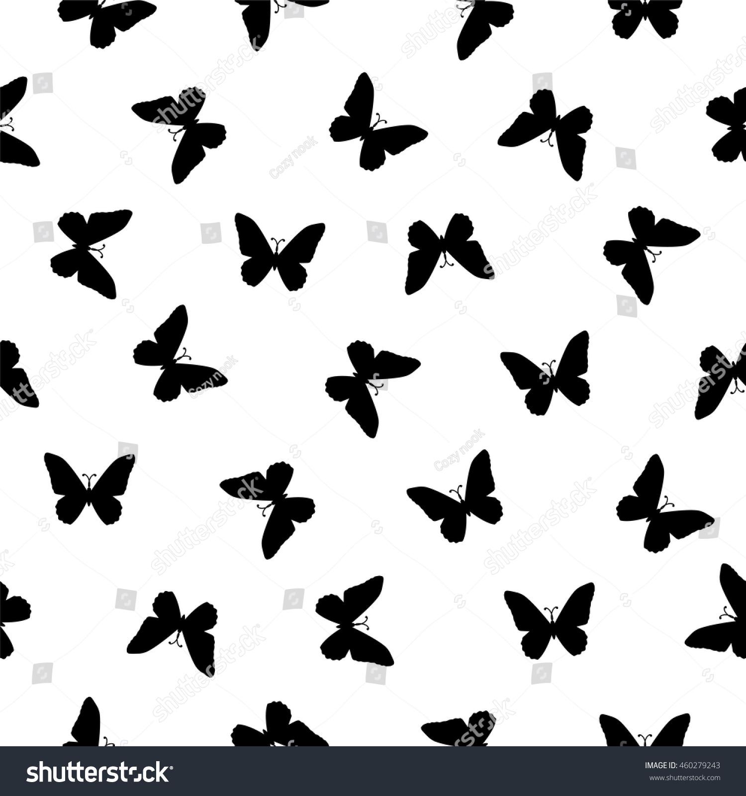 vector seamless pattern flat simple black stock vector 460279243