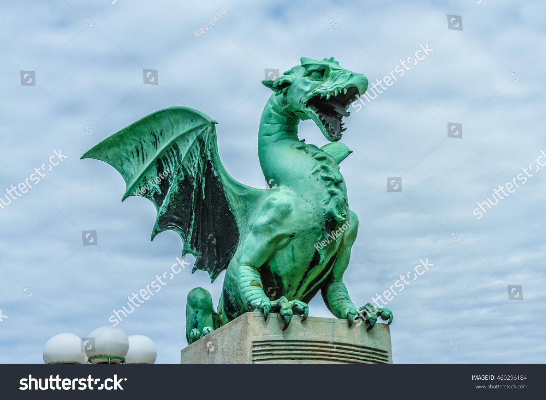 Famous ljubljana green dragon dragon bridge stock photo 460296184 famous ljubljana green dragon at the dragon bridge symbol of the slovenian capital city ljubljana biocorpaavc Image collections