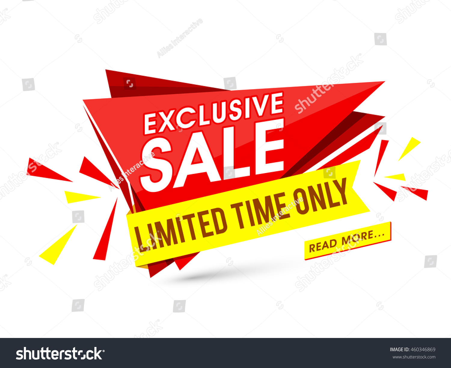 Exclusive Sale Limited Time Only Creative Stock Vector