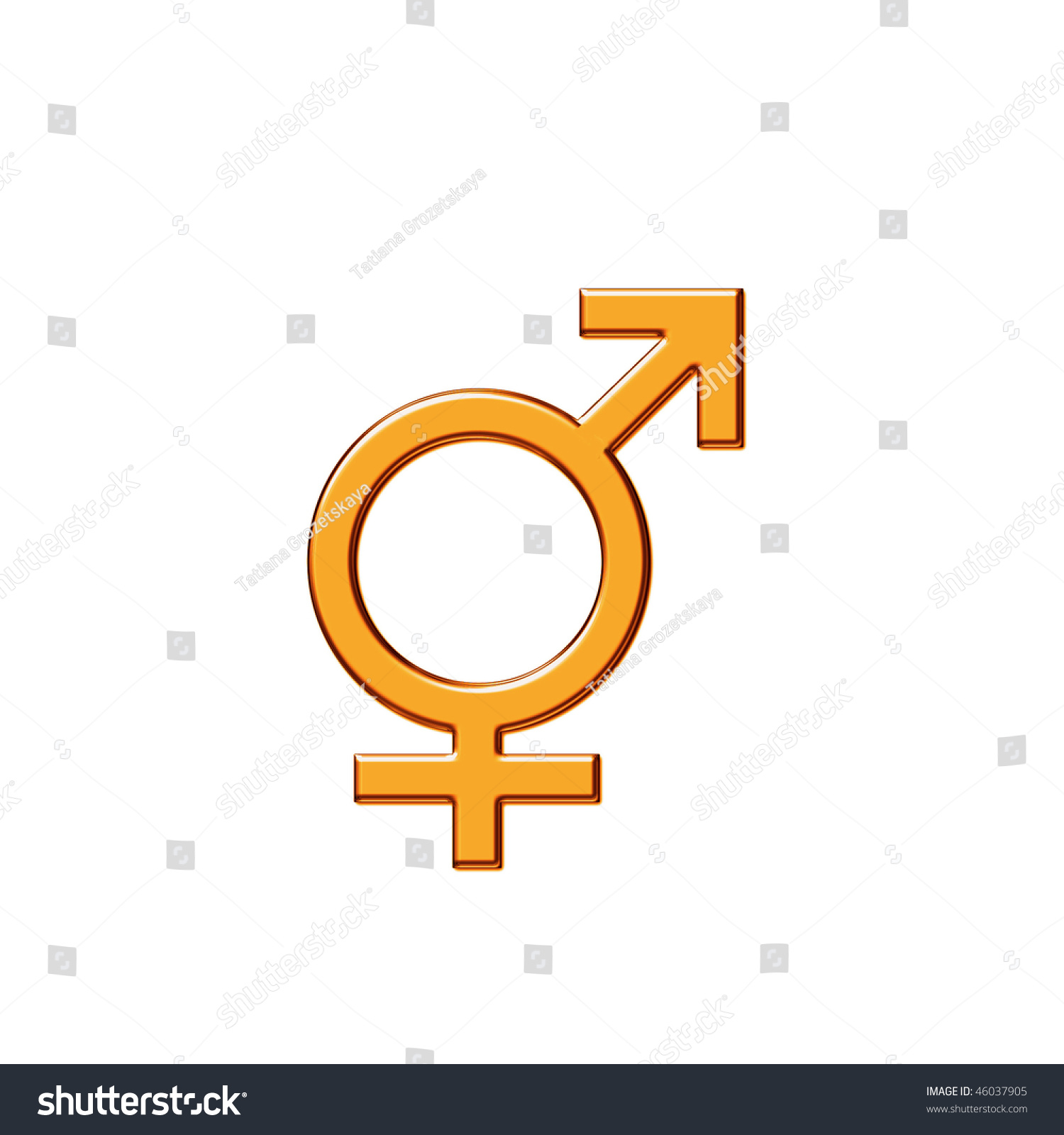 Symbol Unity Male Female Beginnings Love Stock Illustration