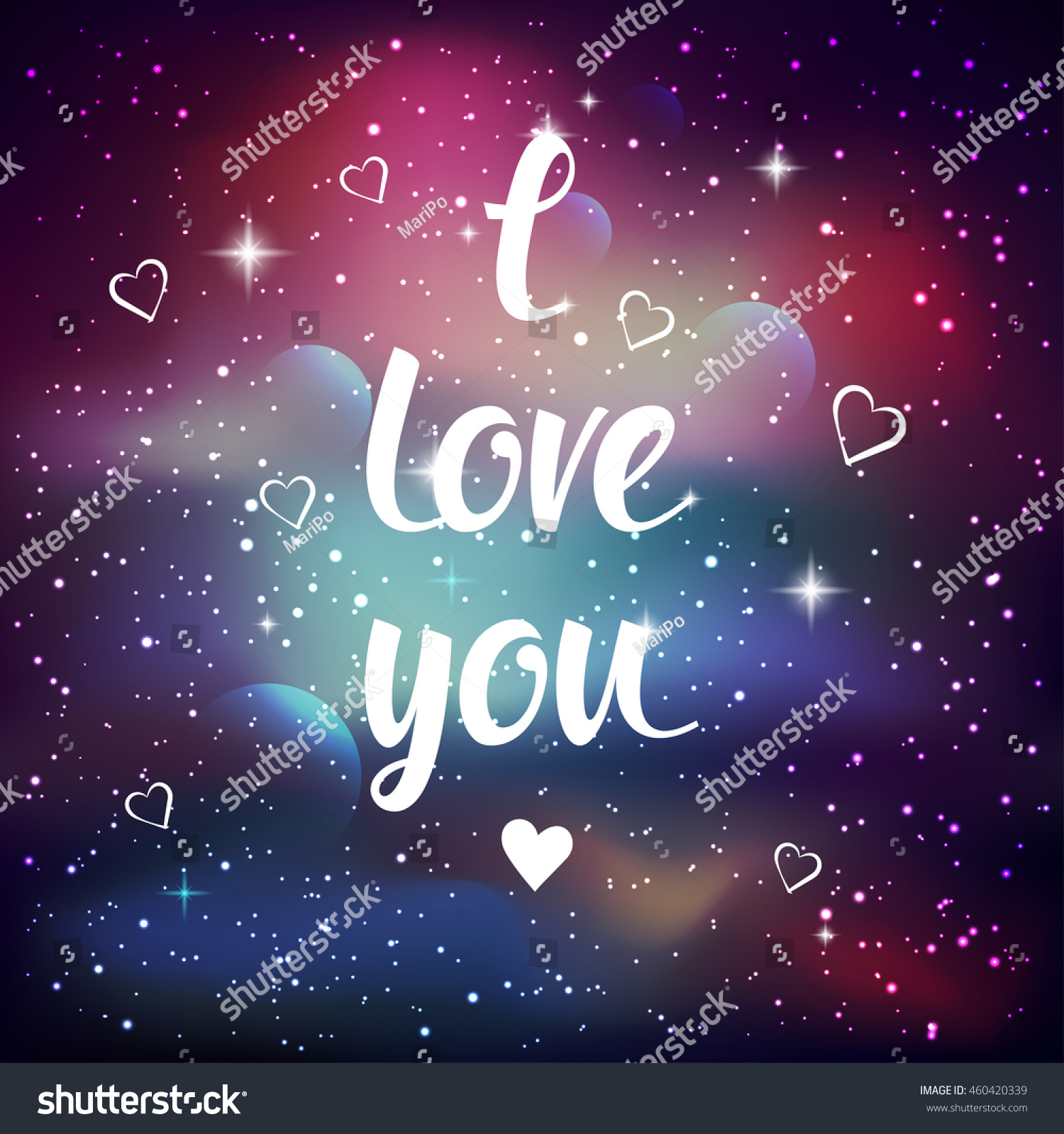 Love Wallpaper For Galaxy E7 : Love You Greeting card Lettering calligraphy Stock Vector 460420339 - Shutterstock
