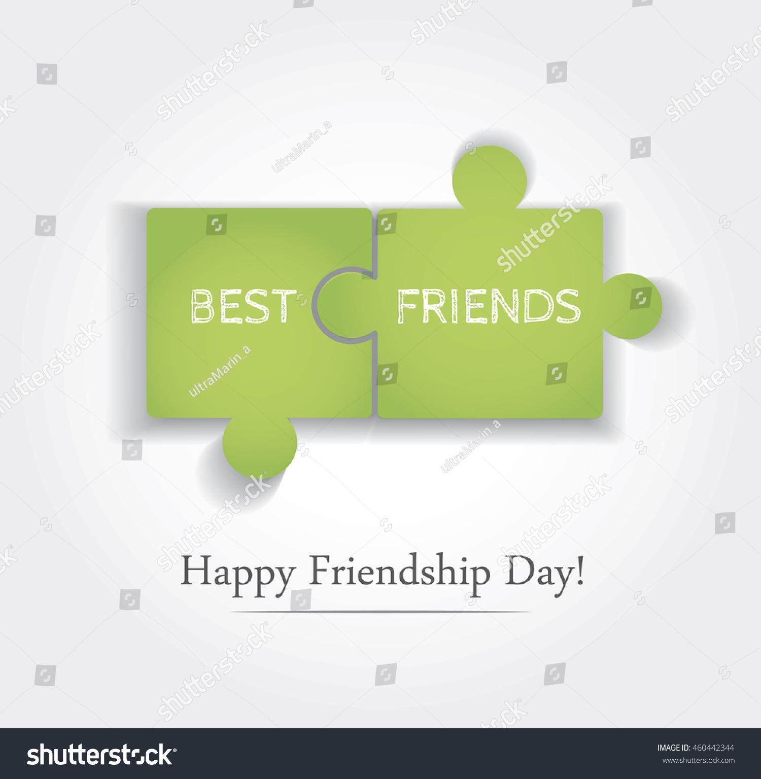 Vector Illustration Friendship Day Best Friends Stock Vector