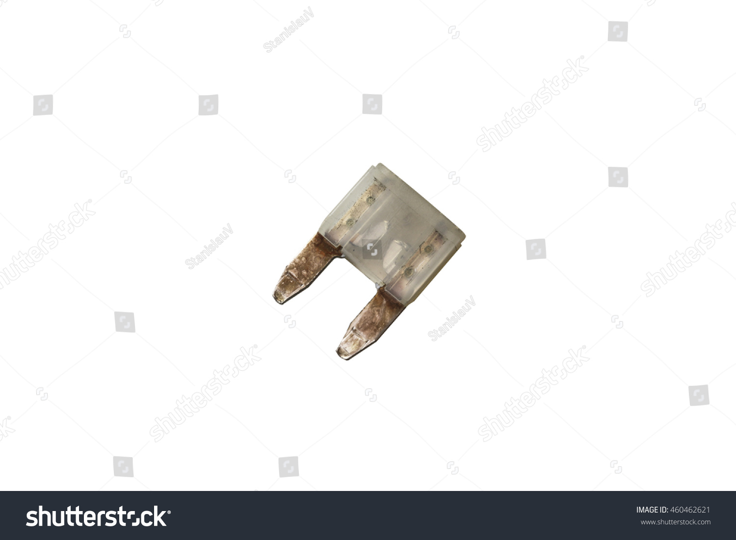 Nonworking Damaged Blown Fuse Car Electrical Stock Photo