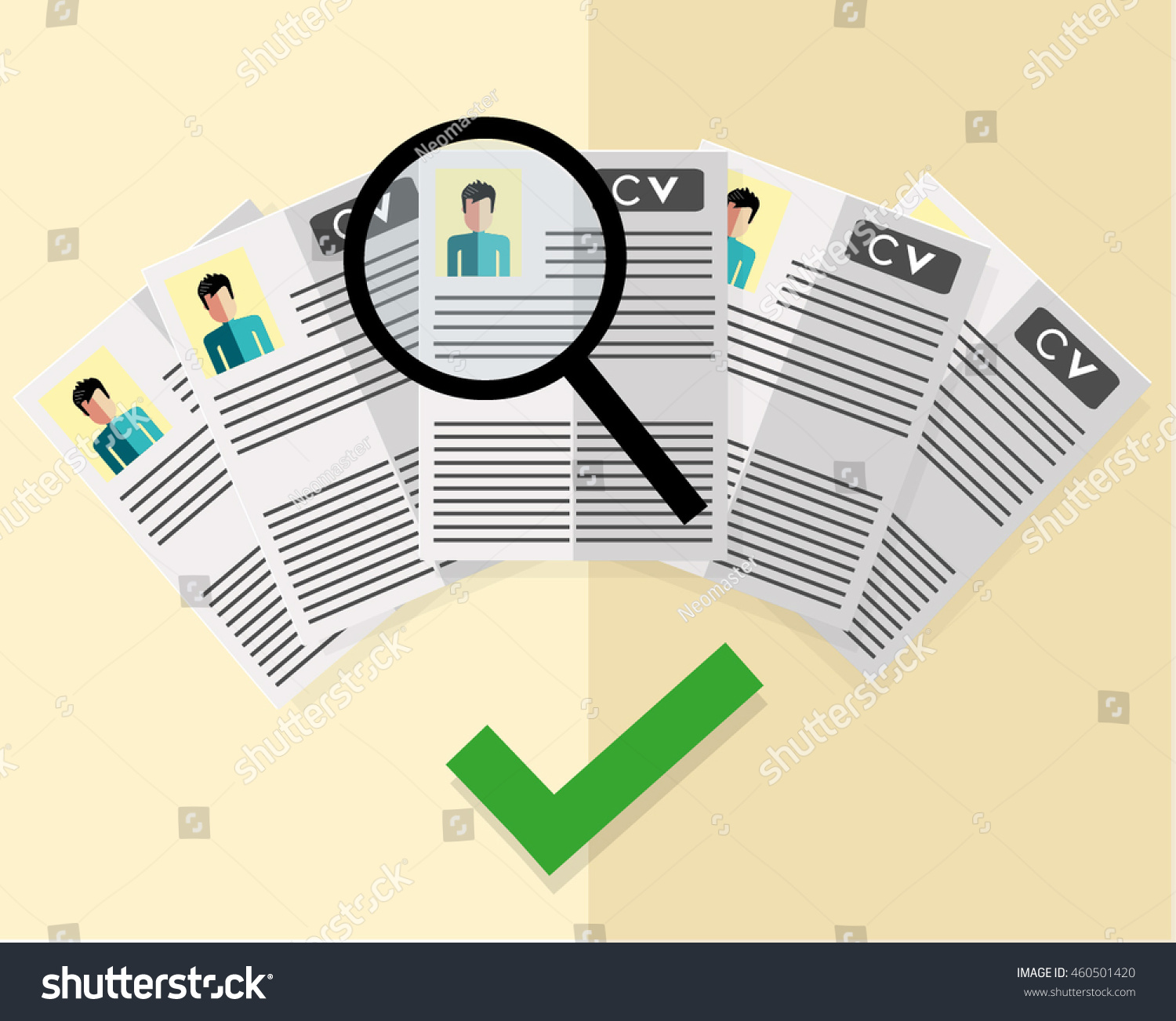 hr manager searching right candidate job stock vector 460501420