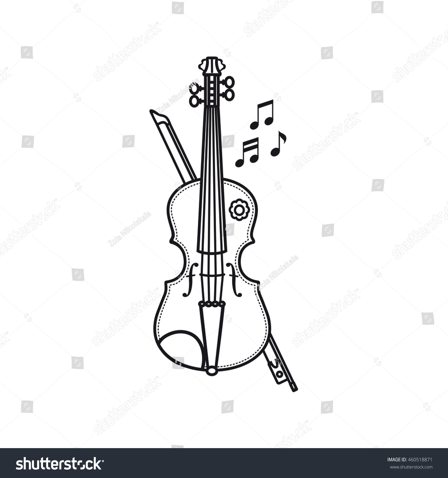 Violin Musical Instrument Childs Toy Vector Stock Vector 460518871 ...