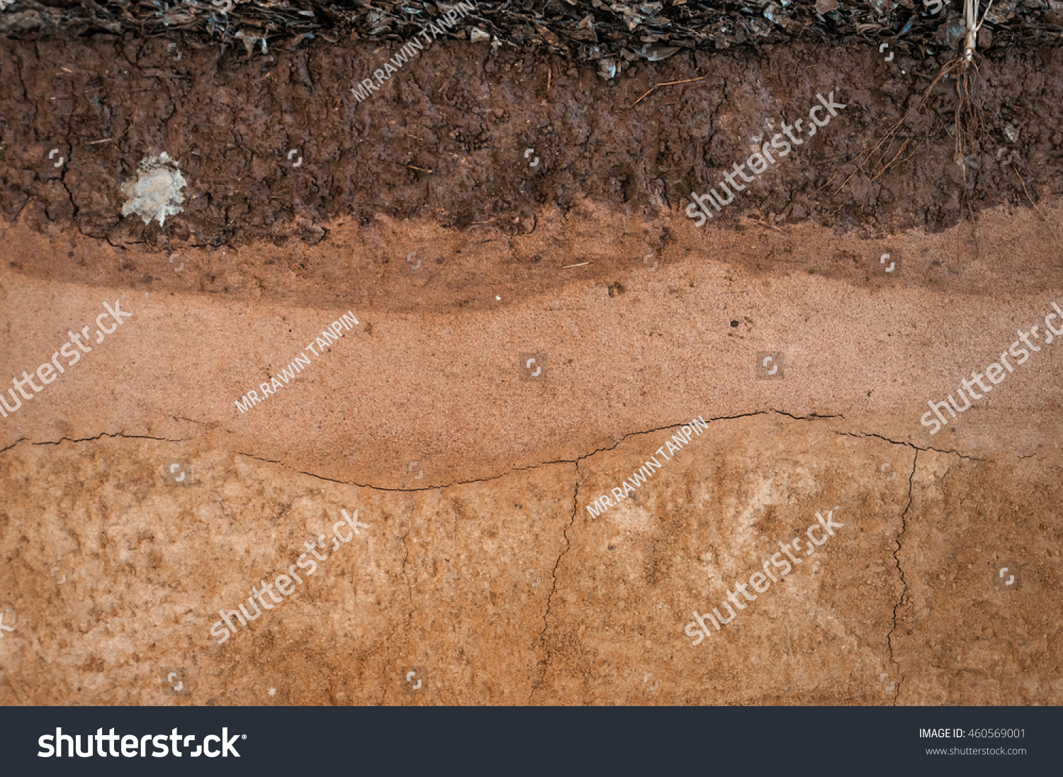 Form And Texture : Form soil layersits colour texturestexture layers stock