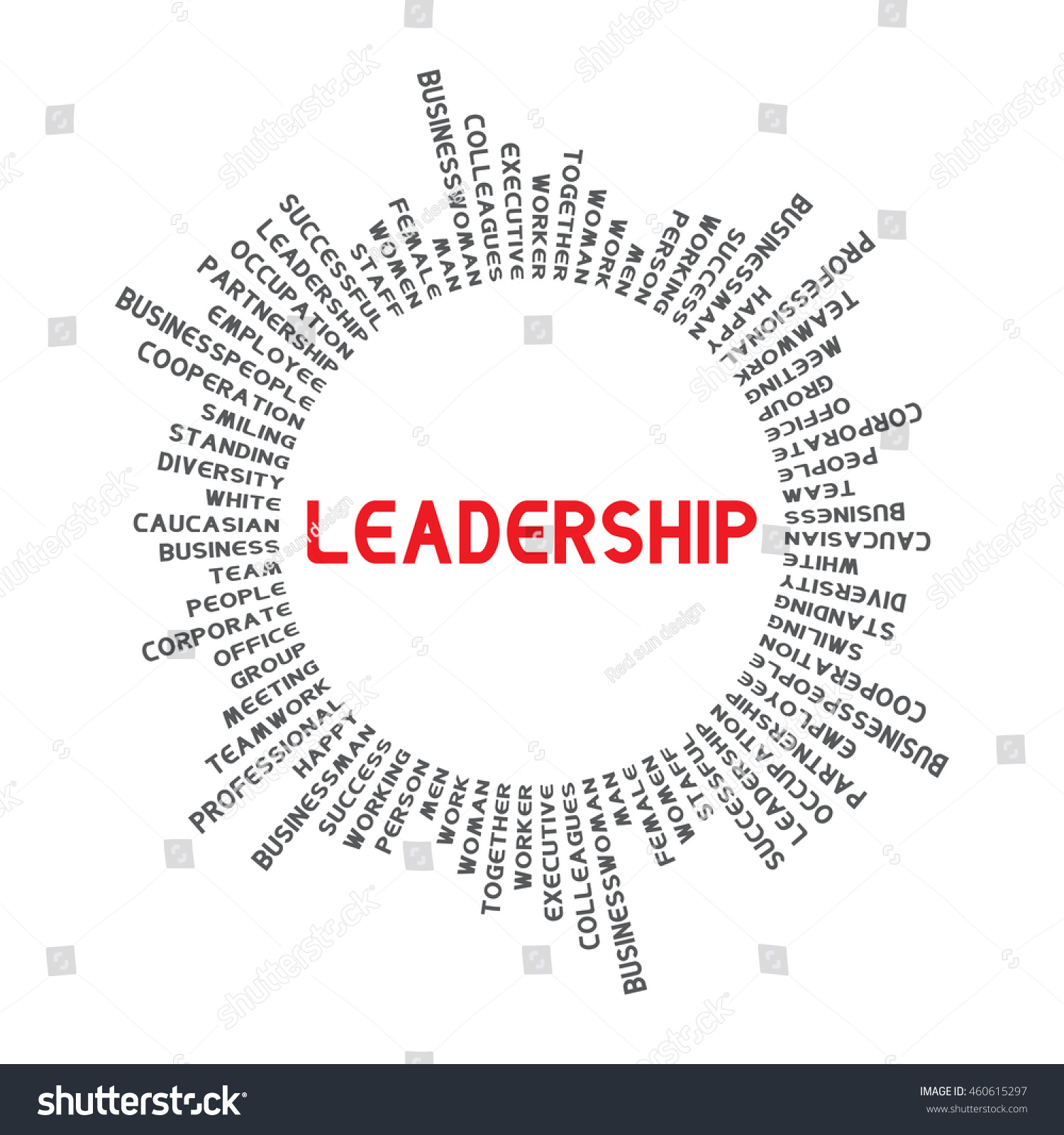 circle word leadership words related businesses stock vector