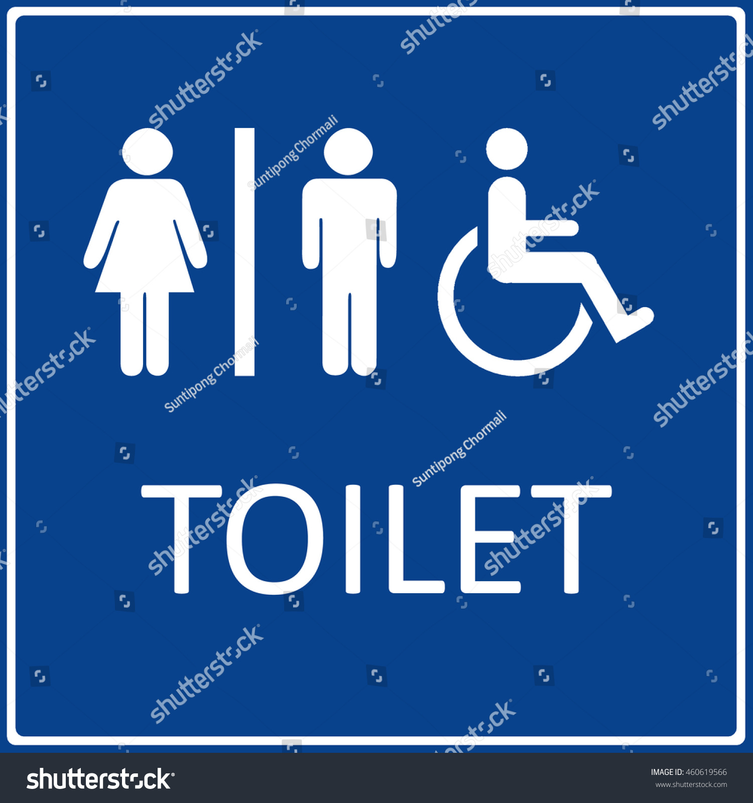Man And Lady Disabled Handicap Toilet Sign Isolated Symbol On White Background