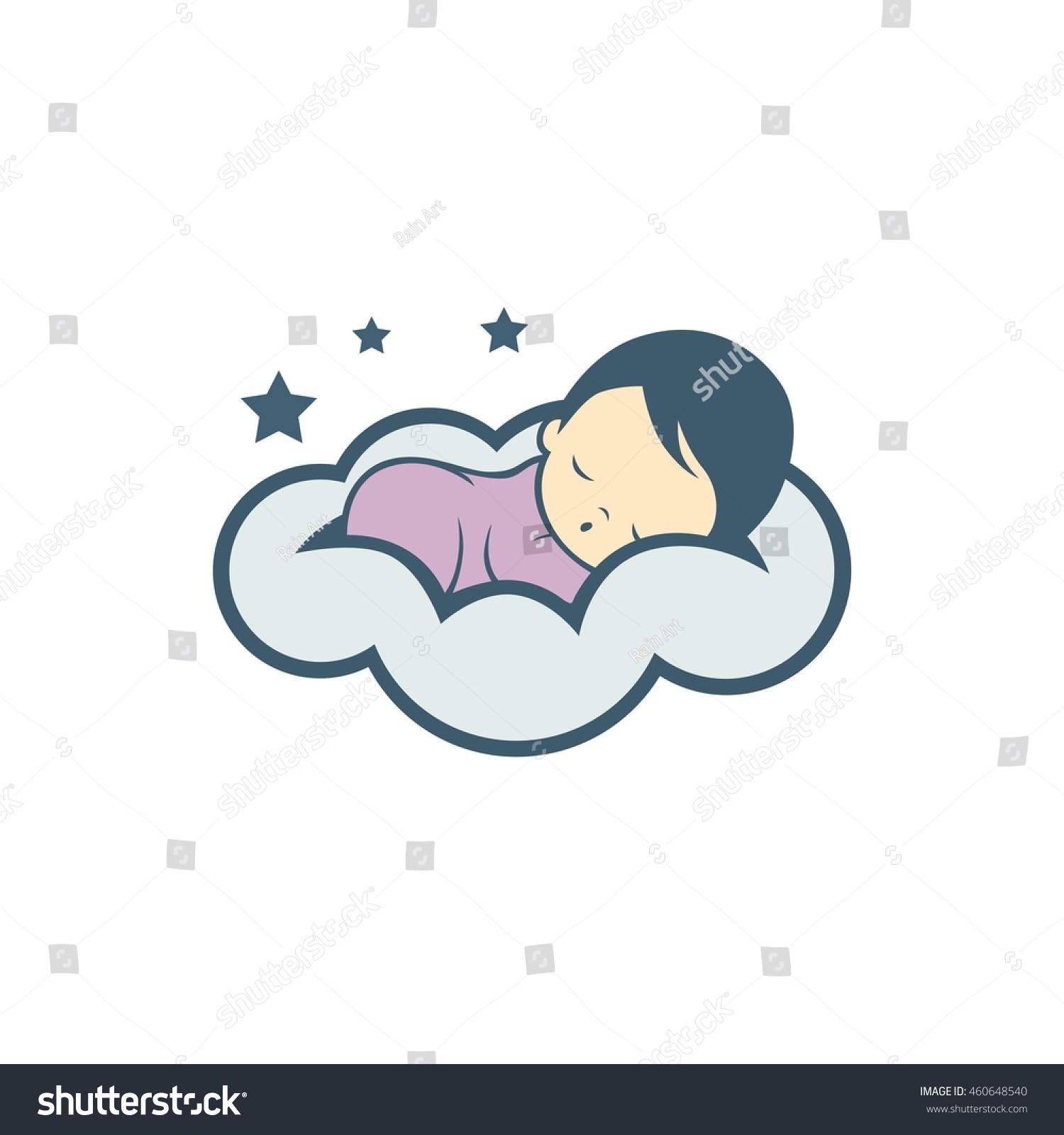 Sleep baby logo icon        - Vector